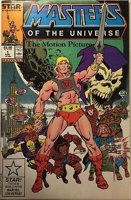 Masters Of The Universe The Motion Picture Comic! HE-MAN! Rare movie adaptaion!