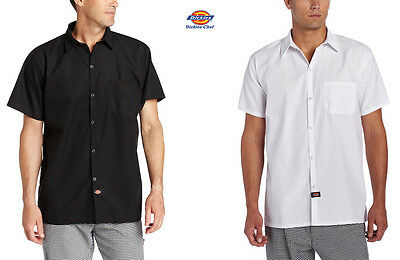 Dickies Unisex Cook Shirts Short Sleeve With Snap Buttons XS-5XL DC125