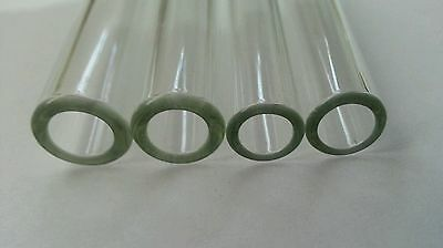 12 Inch 4 Piece ( 2 × 10 mm + 2 × 12 mm OD ) Glass Pyrex Blowing Tubes Tubing