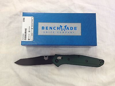 NEW Benchmade 940BK Osborne S30V Reverse Tanto Black Blade Green Aluminum Handle