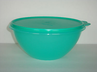 Tupperware Wonderlier 10.5 Cup Bowl & Liquid Tight Seal Both Teal Green New