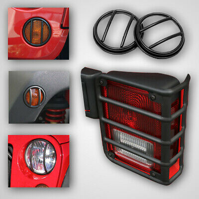 Euro Light Guard Kit Jeep Wrangler JK 2007-16 10 Piece Black 12496.02  Rugged