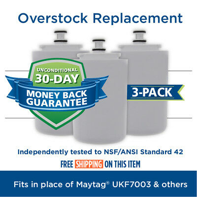Maytag UKF7003 EDR7D1 Filter 7 Comparable Refrigerator Water Filter 3 Pack