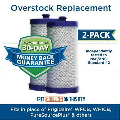 Fits Frigidaire WFCB WF1CB Comparable Refrigerator Water Filter 2 Pack