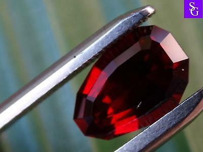 "Australian Natural Faceted 2.55 ct Red Garnet ""Stunning_Gemstones"""