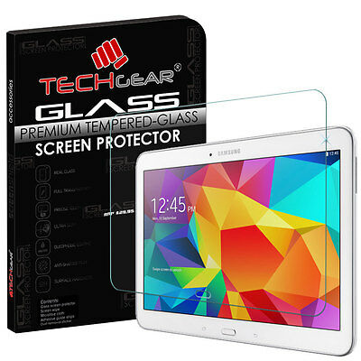 TECHGEAR TEMPERED GLASS Screen Protector For Samsung Galaxy Tab 4 10.1 (SM-T530)