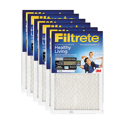 3M Filtrete 16x25x1 Ultimate Allergen Reduction Air Filter (6 Pack)