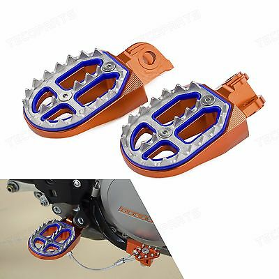 New Shark Tooth Foot Pegs For KTM 125/250/350/450/525/530 SX SX-F XC EXC EXC-F