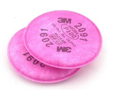 40pcs=20 packs 3M 2091 P100 Particulate Filter for 6000,7000 series respirator