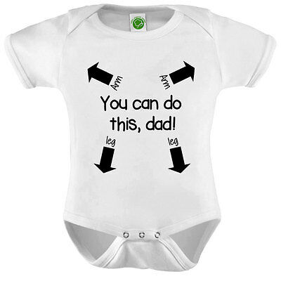 You Can Do This Dad Onesie ORGANIC Cotton Romper Baby Shower Gift Funny Present