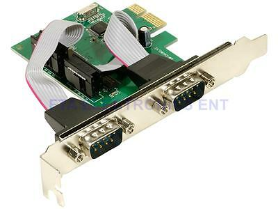PCI-E Express to Dual Port DB9 RS232 Serial Ports Card Adapter Programming
