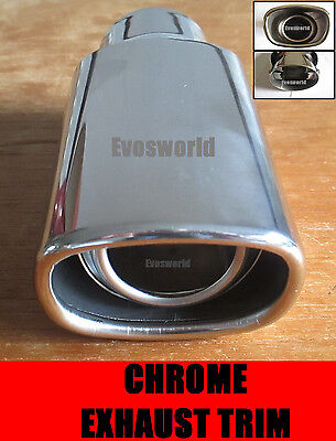 Chrome Exhaust Tailpipe Trim Tip End Muffler Finisher Bmw 5 Series Estate