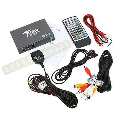 DVB T2 Car Digital TV Box  with Twin Tuners supports high speed driving  100Km/h