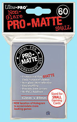 Ultra Pro 60 CLEAR PRO-MATTE Small Deck Protector NEW Textured Card Sleeves