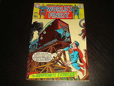 WORLD'S FINEST #196 Superman Batman DC Comics 1970 High Grade VF