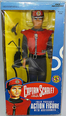 """Captain Scarlet : 12"""" Captain Scarlet Action Figure Made In 1993"""