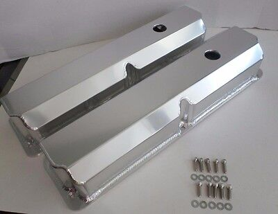 FORD FE 352,360,390,427,428 TALL Fabricated ANODIZED ALUMINUM Valve Covers-BOLTS