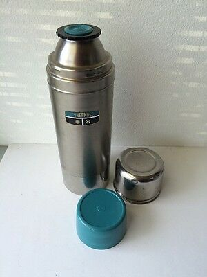 Vintage THERMOS #2460S - Stainless Steel - Quart Size -Complete