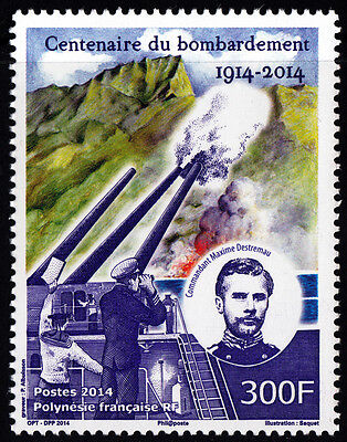 French Polinezia 2014 Bombardment of Papeete, Stamp MNH