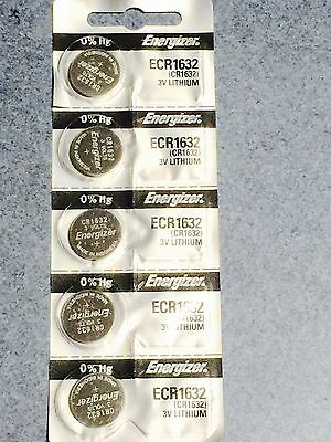 5 x Energizer cr1632 lihium 3v coin battery AUS STOCK SAME DAY SHIPPING cell new