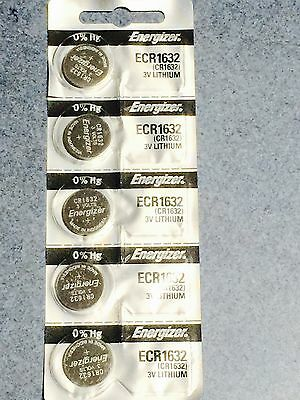 5 x Energizer cr1632 lithium 3v coin battery AUS STOCK SAME DAY SHIPPING cellnew