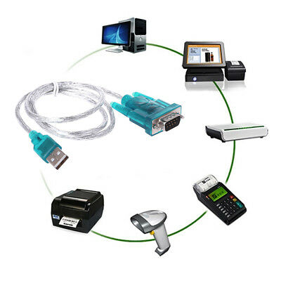 USB to RS232 Serial Port 9 Pin DB9 Cable Serial COM Port New Adapter Convertor