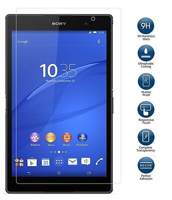"""Genuine Tempered Glass Screen Protector for Sony Xperia Z3 8"""" Compact Tablet"""