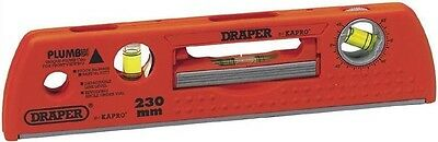 Draper Expert Kapro 69608 225mm Plumb Site Dual View Magnetic Spirit Level