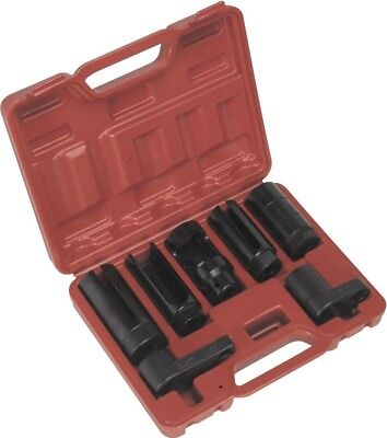 "Sealey Oxygen Sensor Socket Set 7pc 3/8"" & 1/2""Sq Drive"