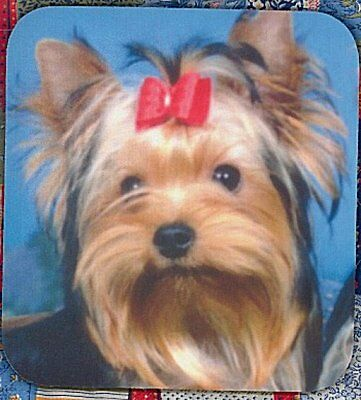 YORKSHIRE TERRIER PUPPY Heavy Rubber Backed Mousepad #3603