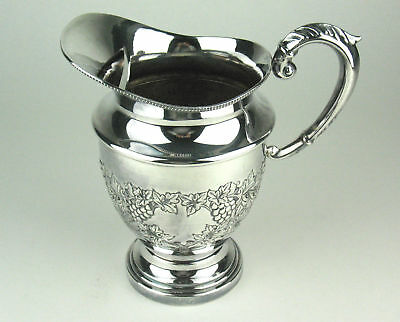 WATER JUG SHEFFIELD REPRODUCTION handchased silverplate sphinx mark silver