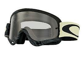 2017 Oakley O Frame Goggles Black White With Clear Lens Motocross Enduro