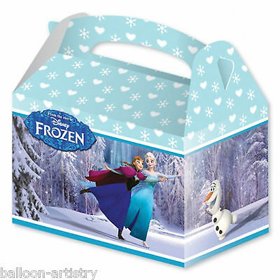 4 Disney's FROZEN Ice Skating Children's Party Loot Gift Favour Boxes