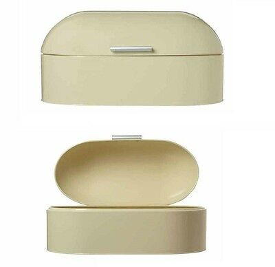 Retro Style Dome Bread Bin Food Storage Kitchen Bread Box Gloss Finish Cream New