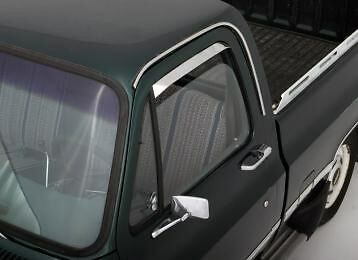 Ventshade - 2Pc Stainless 1980-1998 Ford Bronco F150 F250 F350 AVS 12068