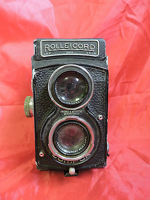 VINTAGE ROLLEICORD TWIN LENS REFLEX DRP DRGM PRE WWII with Zeiss 7.5cm