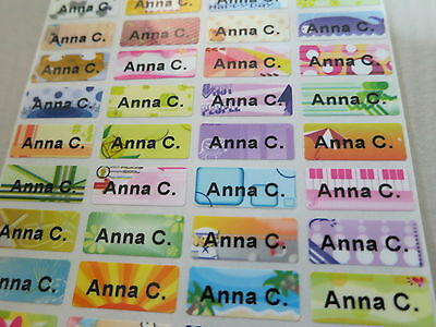 600 Colorful Tiny Personalized Waterproof Name Stickers 0.9 x 2.2 cm Labels Tags