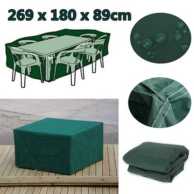 269x180x89cm Outdoor Garden Furniture Cover Waterproof For Patio Table Chair New