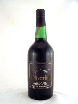 1981 OLIVERHILL Vintage Port Isle of Wine