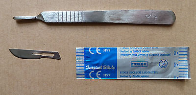 Surgical (sealed and sterile) Blades - 10 x #10,   and Scalpel Handle 1 x # 3