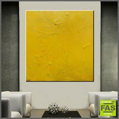 Abstract Canvas Painting Texture yellow minimalist 120 x 120 - Franko