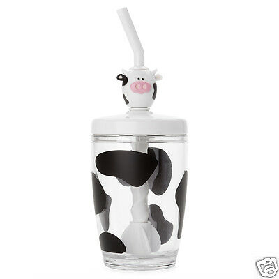 Joie MSC MOO MOO Milk Mix Cup Straw Mixer Cow Cup Kitchen Cooking Home Gift