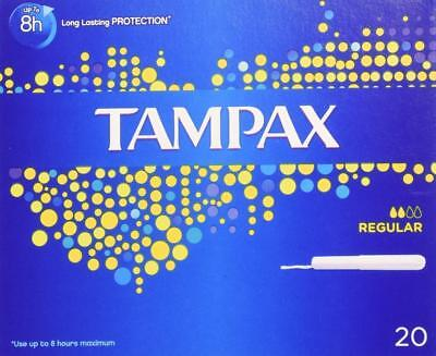 ** 2 X Tampax  Regular  20 Tampons In Each  New Applicator **