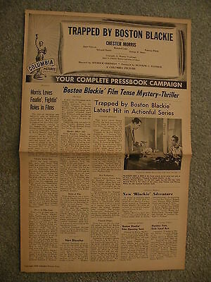Trapped by Boston Blackie Chester Morris Movie Press Book 1948 for the Movie