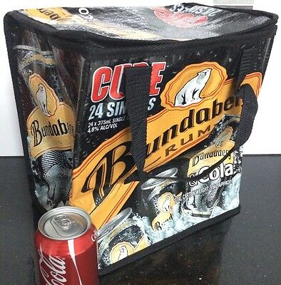 Cooler Chiller Bag Large BUNDABERG RUM  COLA 24x375 mL Can Zipper Insulated NEW!