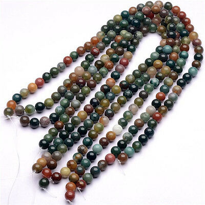 6-16mm Natural Natural Agate India Beads DIY Crystal Accessories Long chain