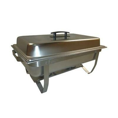 New 2Pcs Chafing Dish Chafer Buffet Bain Marie Stainless Steel Warmer Stackable