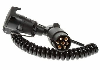Maypole 5885 EXTENSION LEAD CURLY 1.5M 12N 7PIN PLUG & SOCKET DP