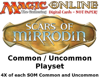 MTGO Magic Online SOM Scars of Mirrodin Playset 724 Cards 4x Common/Uncommon