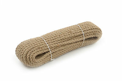 6mm Natural Jute Hessian Rope Cord Braided Twisted Boating Sash Garden Decking